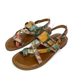 Patricia Nash Fidella Floral Ankle Strap Sandals